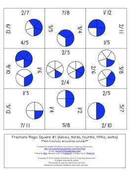 FREE Fraction Math Center
