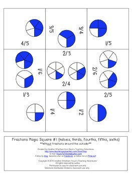 FREE Fraction Math Center