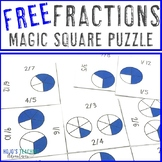 FREE Fraction Math Center Game Puzzle