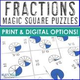 Fraction Puzzle Math Center Game