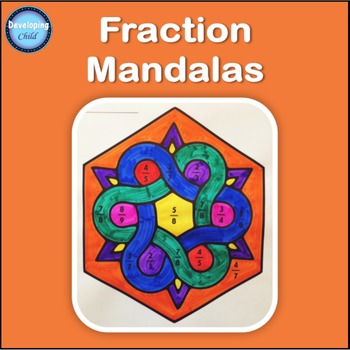 Fraction Mandalas: Add and Subtract Fractions