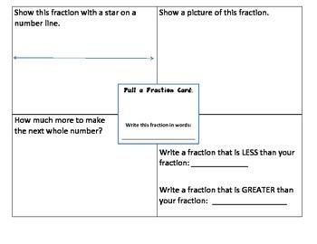 Fraction Mat Math Station