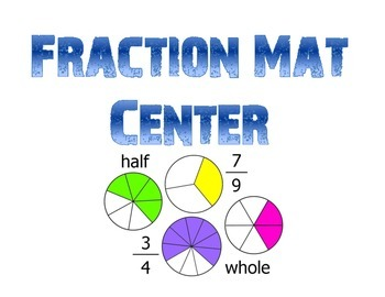 Fraction Mat Math Station
