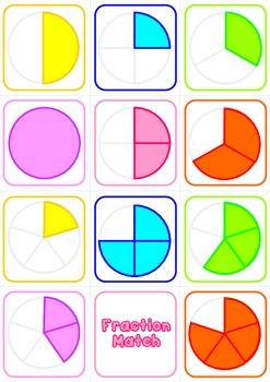 Fraction Match Cards