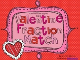 Fraction Match Cards-Heart Themed-Common Core Aligned
