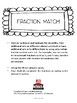 Fraction Match Center Activity 4th grade