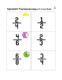 Equivalent Fraction:  Compare with Models Plus 28 Fraction Scoot Game Cards