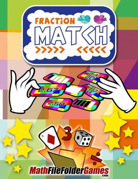 Fraction Match: Equivalent Fractions, Decimals, and Per cents {Fraction Games}