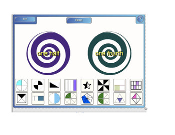 SmartBoard Fraction Match Game