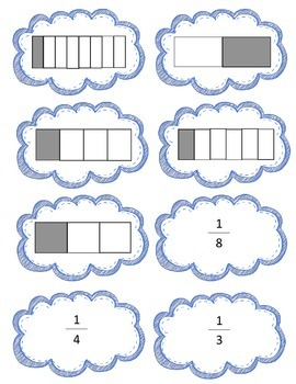 Fraction Match Game Freebie!  3.NF.A.1