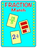 Fraction Match Game - Improper Fractions and Mixed Numbers