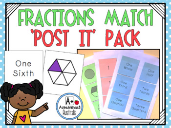 Fraction Match 'Post It Note' Pack