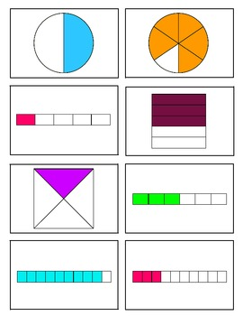 Fraction Match-Up Common Core Aligned 3.NF.1