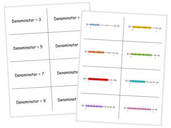 Fraction Match Up - Level 1 - Proper Fractions