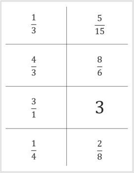 Fraction Match Up - Level 4 - Equivalent Fractions