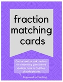 Fraction Match Up Task Cards - Fraction to Picture Matching