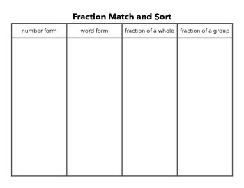 Fraction Match and Sort