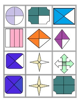 Fraction Matching- CCSS.Math.Content.2.G.A.3
