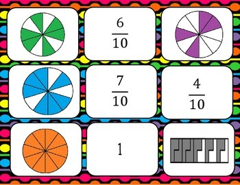 Fraction Matching Game
