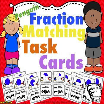 Fraction Matching Penguin Theme