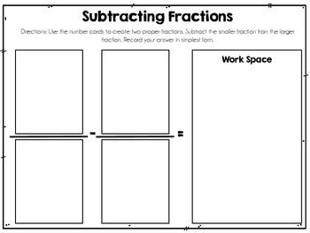 Fraction Math Centers {Math Mat Centers}