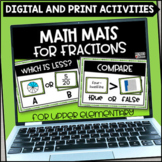 Fraction Math Mats - Printable and Digital for Google Slid