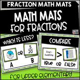 Fraction Math Mats for Upper Grades