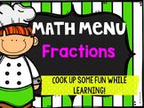 Fraction Math Menu