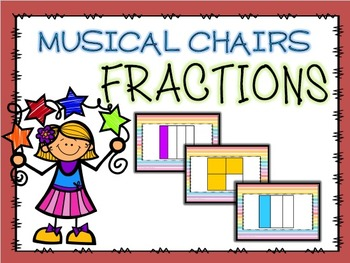 Fraction Math Musical Chairs Game