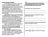 Fraction Math Nonfiction Comprehension Passage