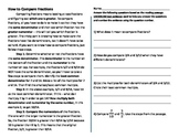 Fraction Math Nonfiction Comprehension Passage