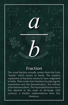 Fraction - Math Poster