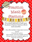 Fraction Math Stations