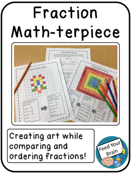Fraction Math-terpiece - Writing, Ordering and Comparing Fractions & Decimals