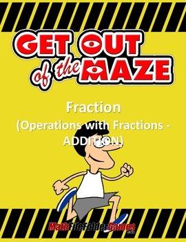 Fraction Mazes/Worksheets - Addition