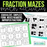 Fraction Maze Centers or Station Worksheets