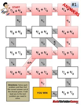 Fraction Maze - Improper Fraction - DIVISION