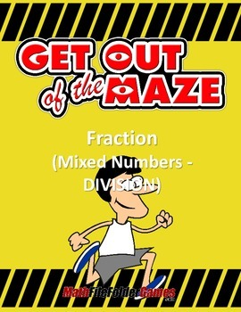 Fraction Maze - Mixed Numbers DIVISION