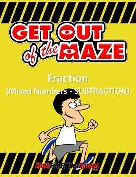 Fraction Maze - Mixed Numbers SUBTRACTION