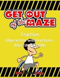 Fraction Maze - Multiplication (Fun Mazes/Worksheets)