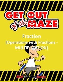 Fraction Maze - Multiplication (Fun Mazes/Worksheets)
