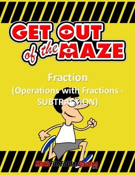 Fraction Maze - Subtraction