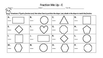 Fraction Me Up Task Cards