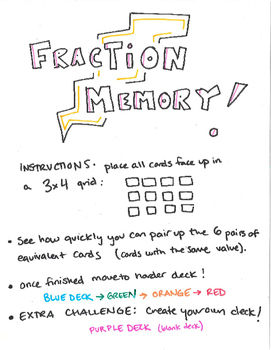 Fraction Memory Cards (pt 2)