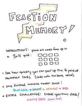 Fraction Memory Cards (pt 2)