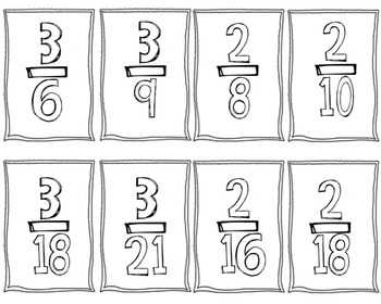 Equivalent Fractions: Memory Game