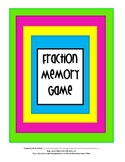 Fractions Memory Game