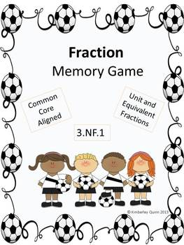 Fraction Memory Game: Soccer Theme (Grades 3 and 4)