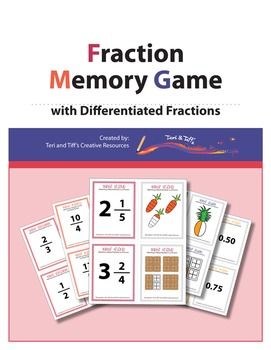 Fraction Memory Game – with Differentiated Fractions
