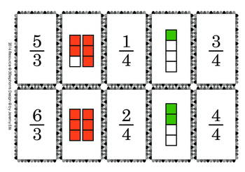 Fraction Memory Match Activty